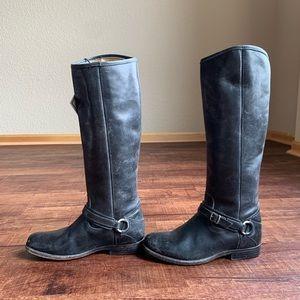 Frye John A Frye Rustic black cowgirl riding boots